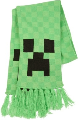 Шарф Minecraft Creeper, 140 см цена от 1 180 руб