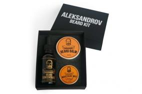 Набор для бороды Aleksandrov №5 (масло Beard Concentrate Glhwein, бальзам Sunrise, воск Mild Sunrise) от 1 750 руб